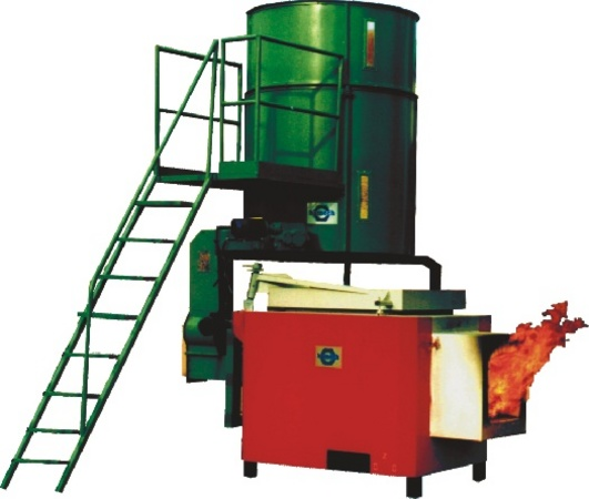 Wet biomass burner
